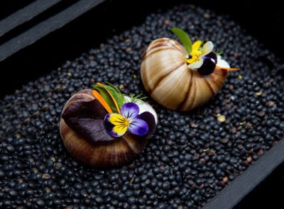 Escargot Shells with crab mousse || uma || Chef-Andreas Klaydianos